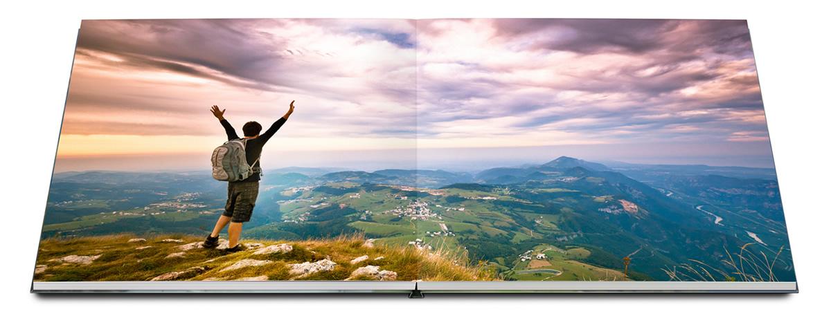 Livre photo - Ouverture à plat des pages sans pliure