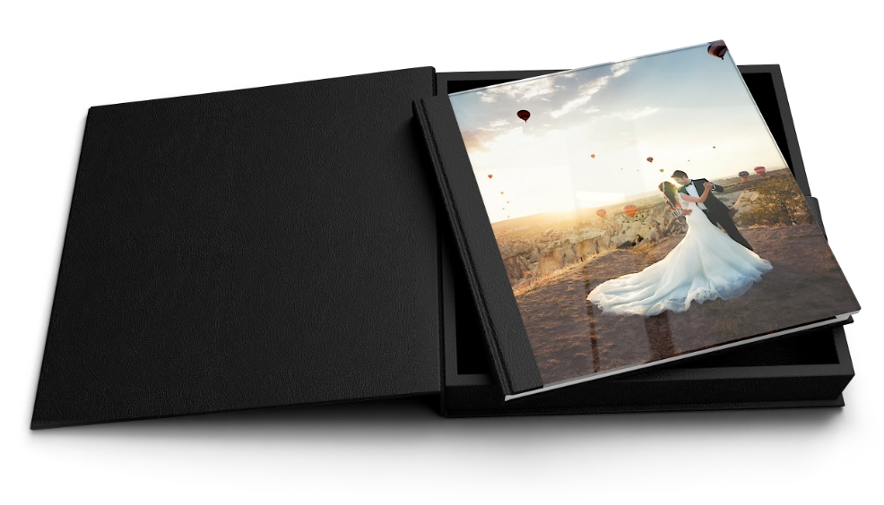Livre photo verre acrylique et coffret premium